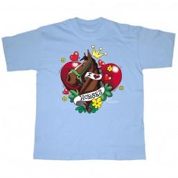 "T-shirt ""I love Horses"" -..."